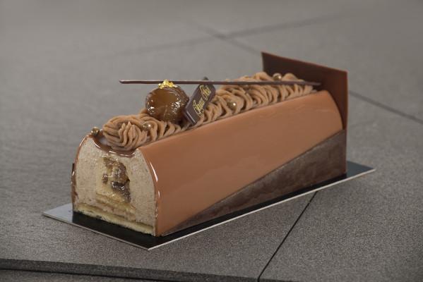 La b che aux marrons les ateliers de valentine for Buche de noel chocolat marron