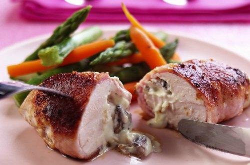 Cuisse de chapon farcies au foie gras *