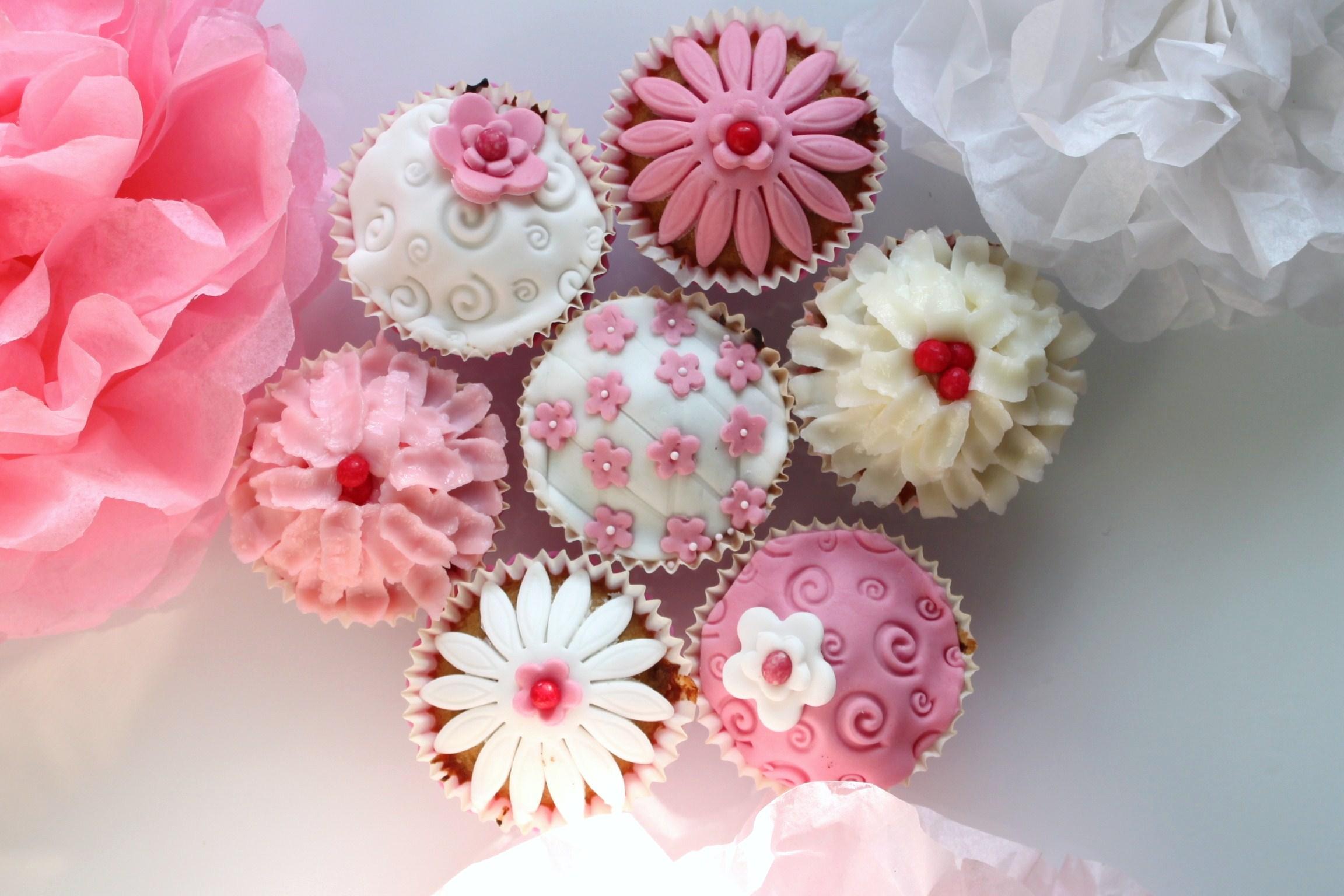 Cup cakes de printemps. parents enfants